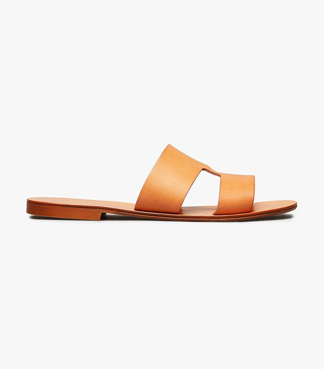 Women's  Flat Leather Sandal by Everlane in Natural, Size 9