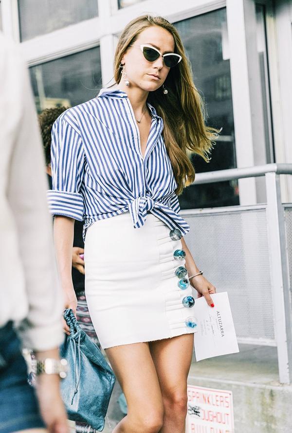 miniskirt street style