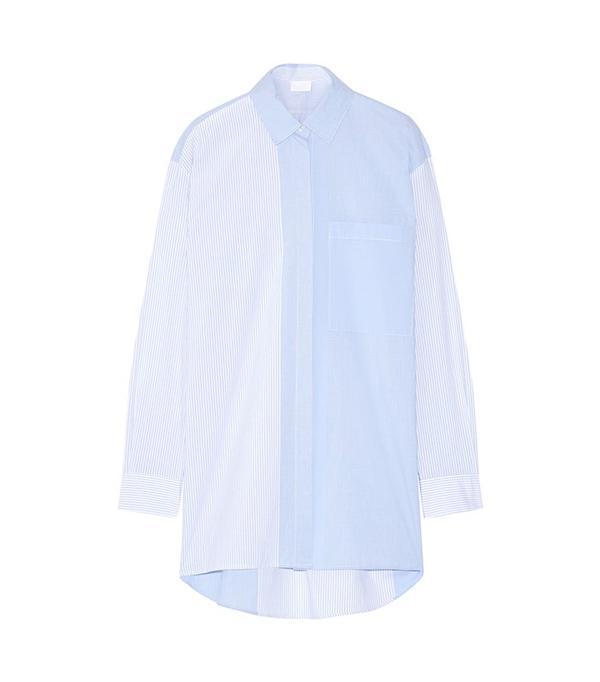DKNY Striped Cotton-Poplin Shirt