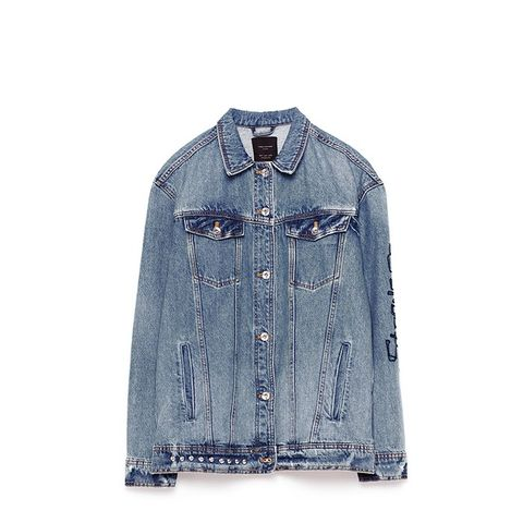 Oversized Studded Denim Jacket