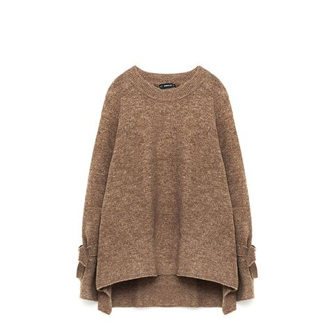 Sweater With Tie Detail on Sleeve