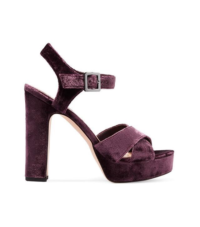 Sam Edelman Arlene Velvet Platform Sandals