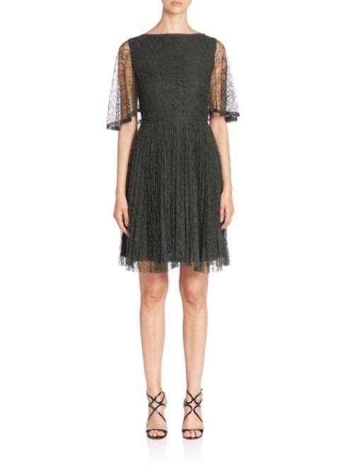 Jason Wu Flutter-Sleeve Lace Cocktail Dress