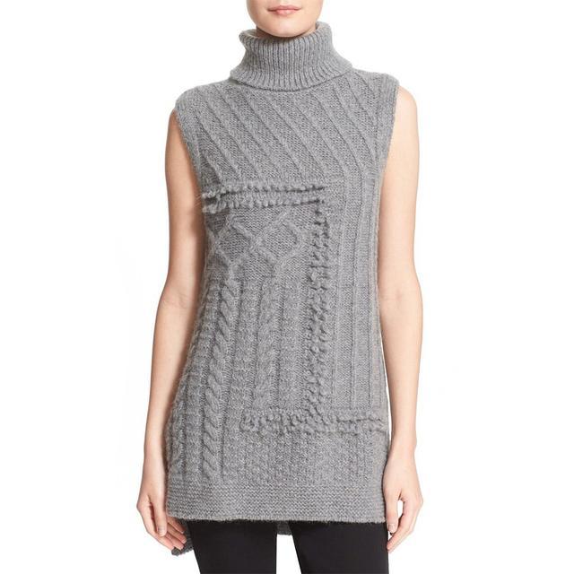 Derek Lam 10 Crosby Cable Knit Turtleneck Sweater Vest