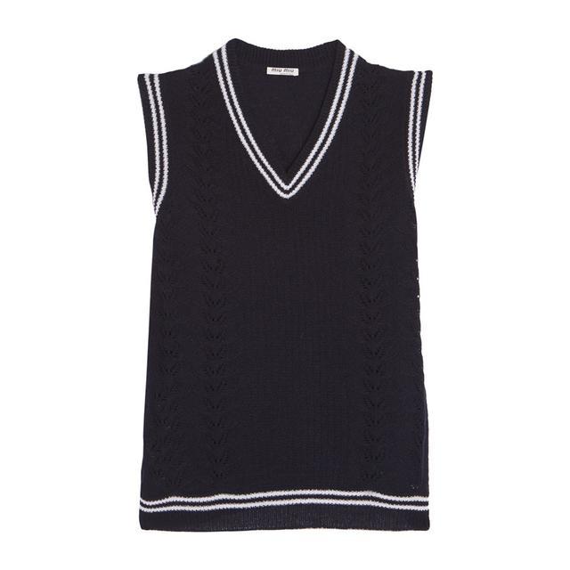Miu Miu Pointelle-Knit Cashmere Sweater