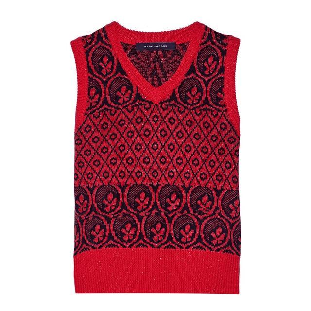 Marc Jacobs Metallic Fair Isle Wool-Blend Sweater