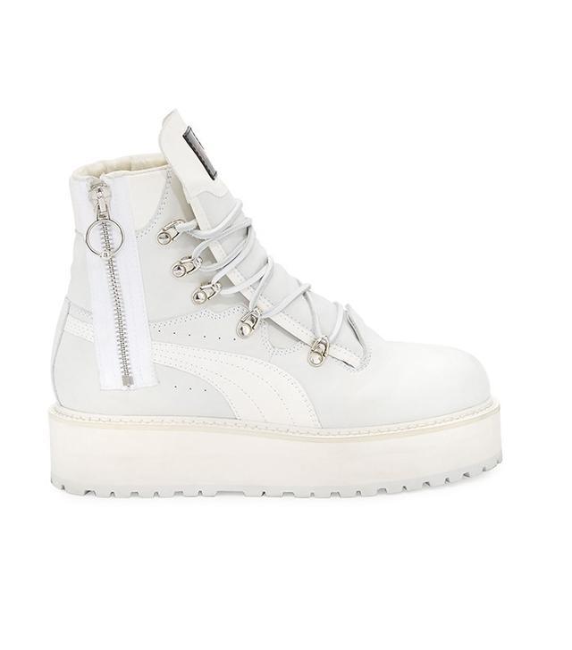 Fenty Puma by Rihanna Leather Platform Sneaker Boot