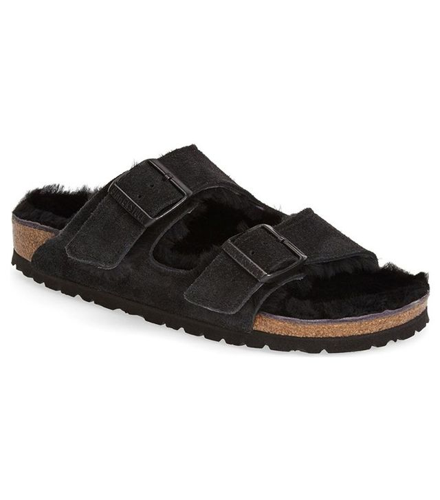 Birkenstock Arizona Genuine Shearling Lined Sandal