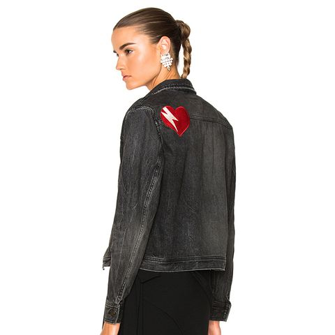 Heart Patch Denim Jacket