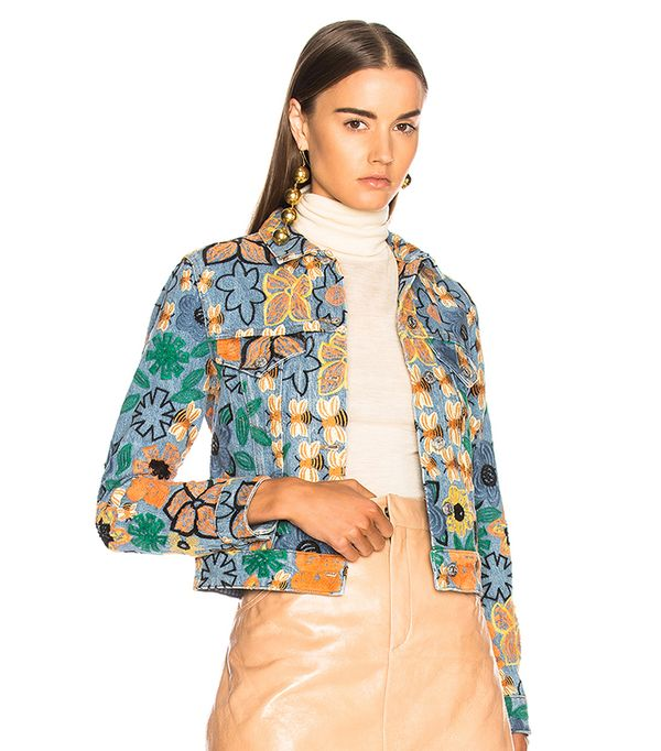embroidered jean jacket for fall