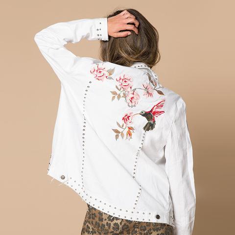 Winston Floral Embroidered Denim Jacket