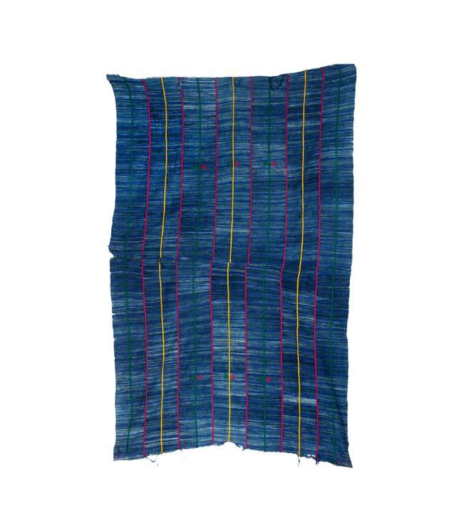 Love Adorned Vintage Embroidered Indigo Textile