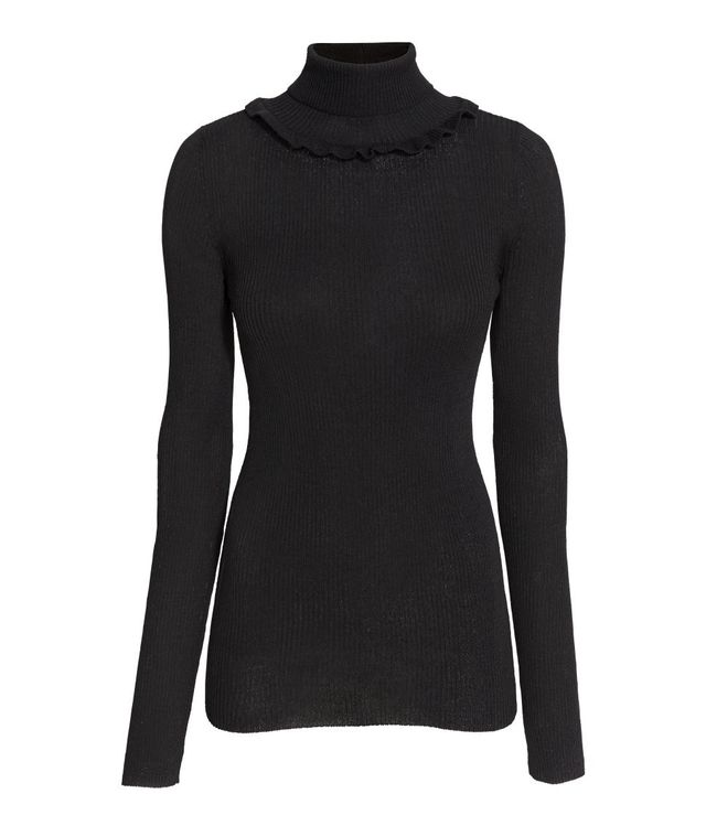 H&M Ruffled Turtleneck Sweater