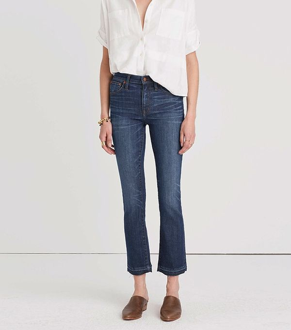 Madewell Cali Demi-Boot Jeans in Mitchell Wash: Drop-Hem Edition