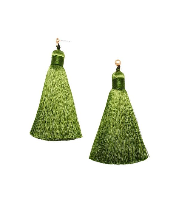 Hart Hagerty Green Tea Fattie Tassel Earrings