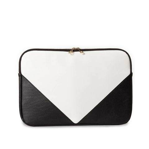 Laptop Zip Pouch White/Black