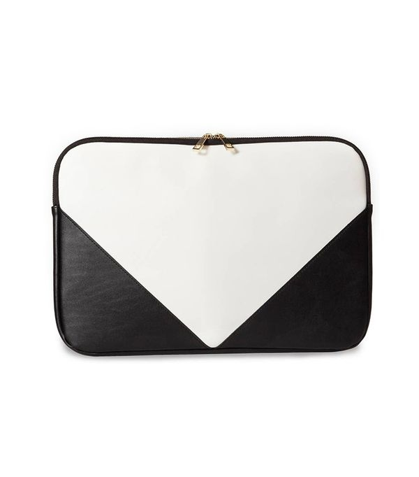 Who What Wear Laptop Zip Pouch White/Black