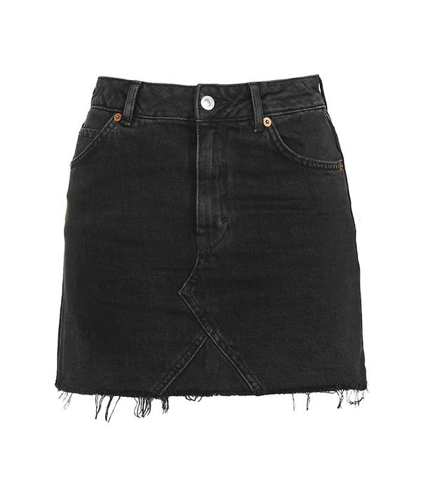Topshop Moto Highwaist Short Skirt