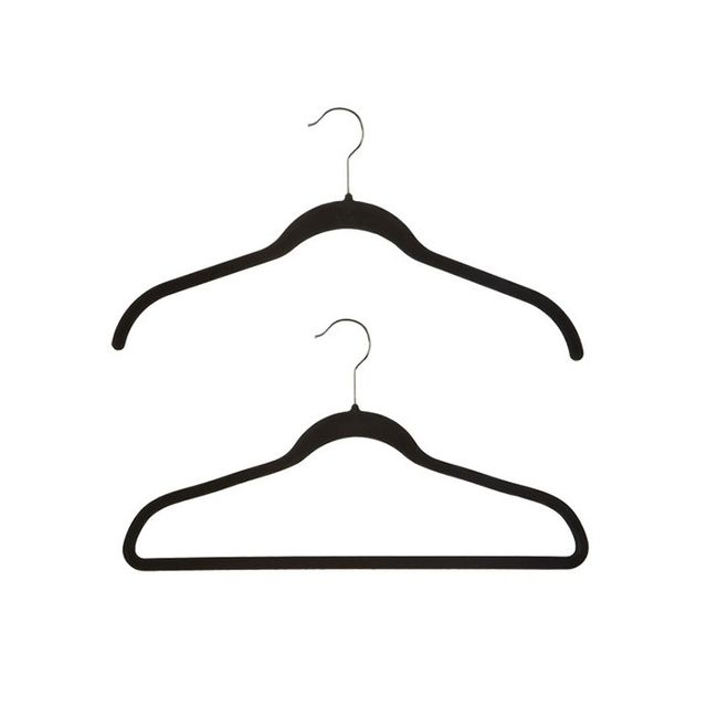 The Container Store Black Huggable Hangers (case of 40)