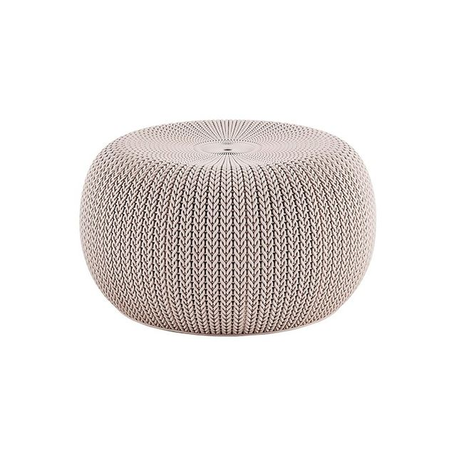 The Container Store Sand Knit Pouf
