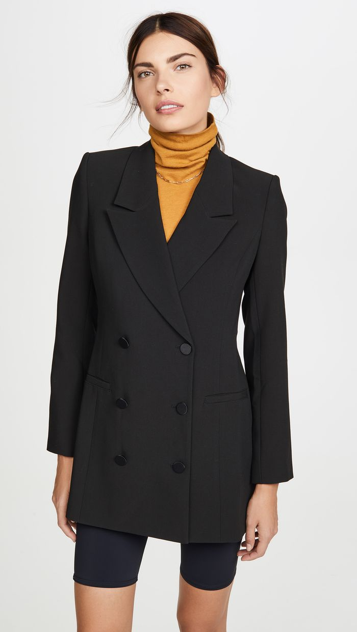 Good American Long Blazer Dress
