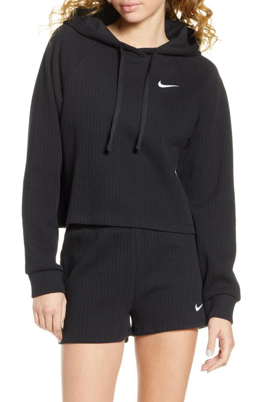 Nike Sportswear Rib Cotton Crop Hoodie
