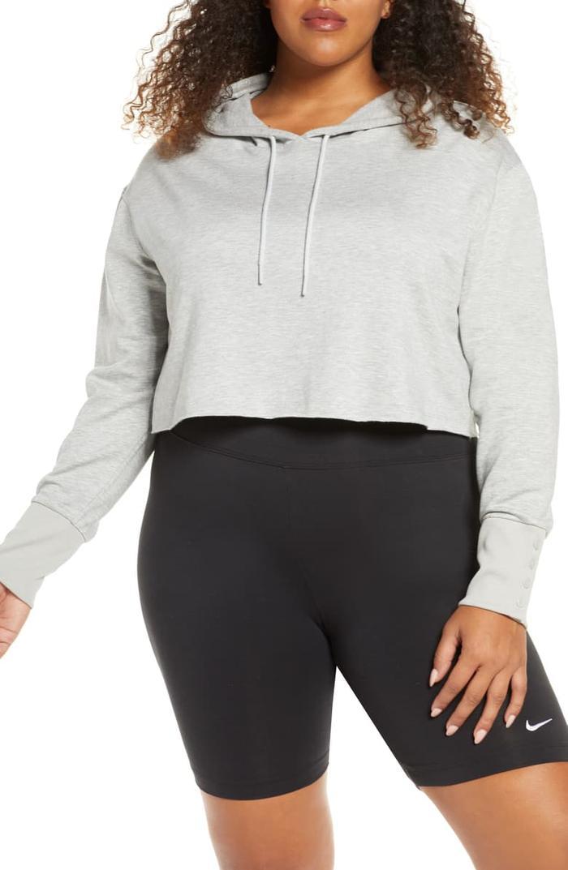 Nike Yoga Luxe Crop Training Hoodie