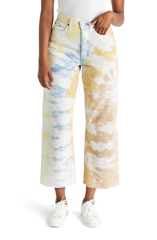 Ética Devon High Waist Crop Wide Leg Jeans
