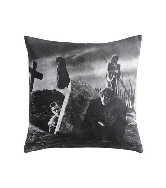 World Market Universal Frankenstein Graveyard Throw Pillow