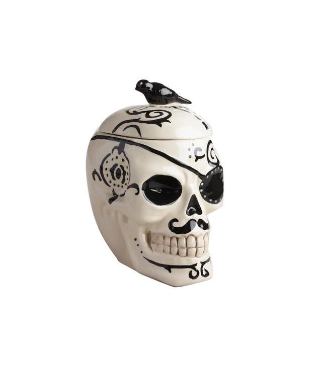 World Market Ceramic Skull Cookie Jar