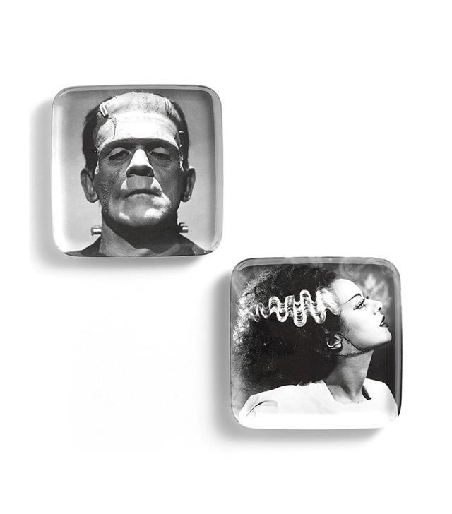 World Market Bride and Frankenstein Melamine Appetizer Plates