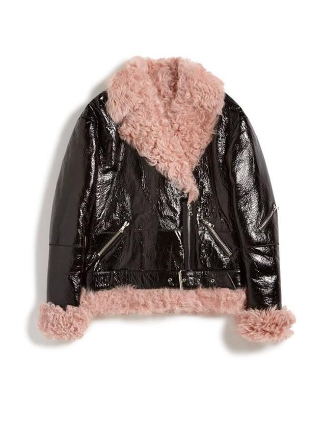 Sandy Liang Bowery Shearling Jacket