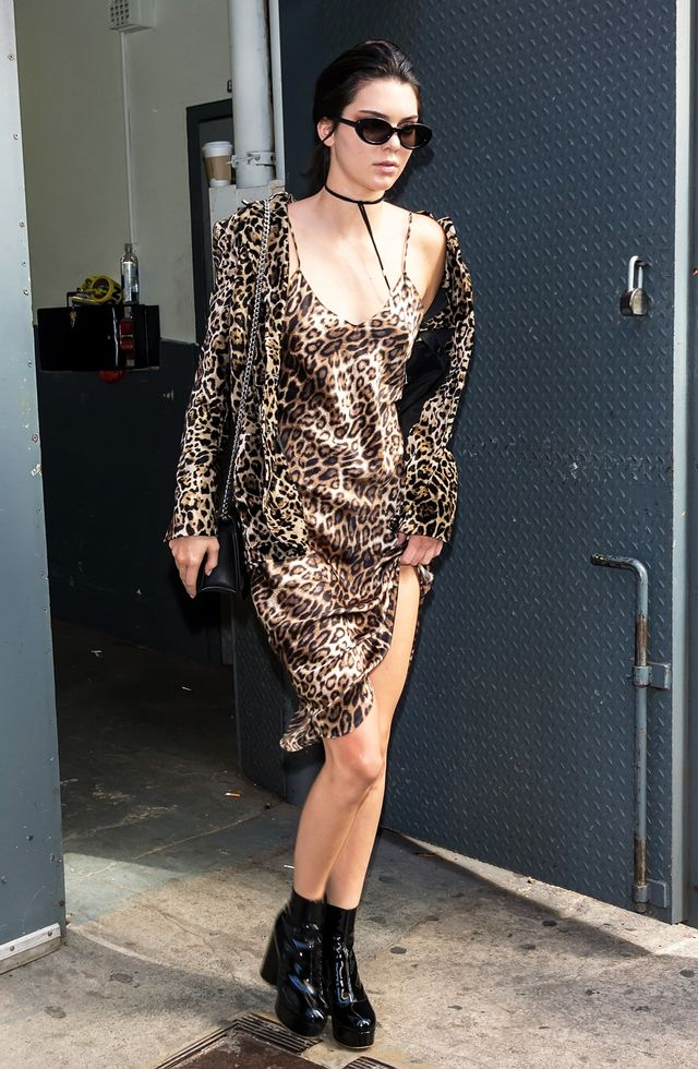 Kendall Jenner Leopard Outfit NYFW