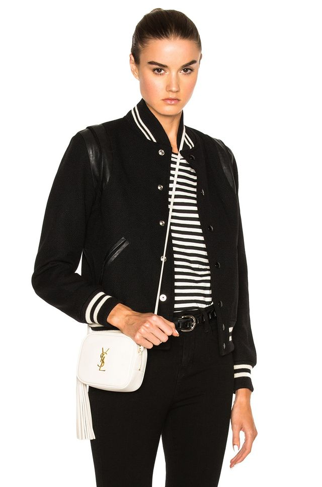 Saint Laurent Classic Teddy Bomber Jacket