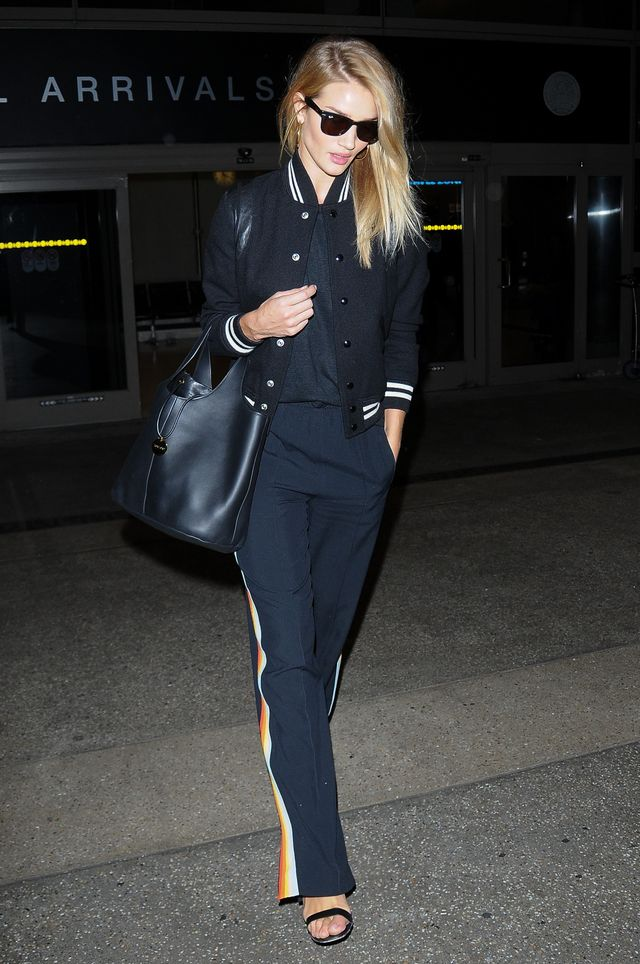 Rosie Huntington-Whiteley airport NYFW