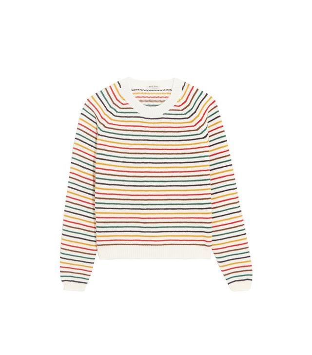 Miu Miu Striped Wool-Blend Sweater