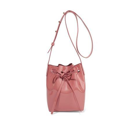 Mini Mini Patent-Leather Bucket Bag