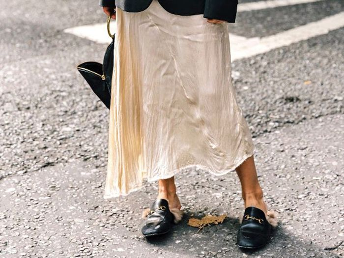 An Incredibly Chic Way to Wear a Slip Dress for Fall