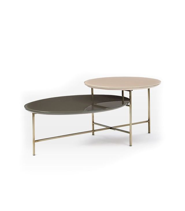 Wset Elm Glass Geo Stepped Coffee Table
