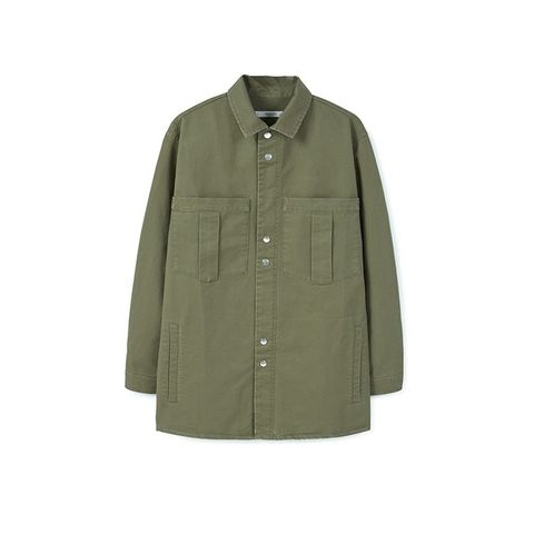 Chest-Pocket Cotton Overshirt