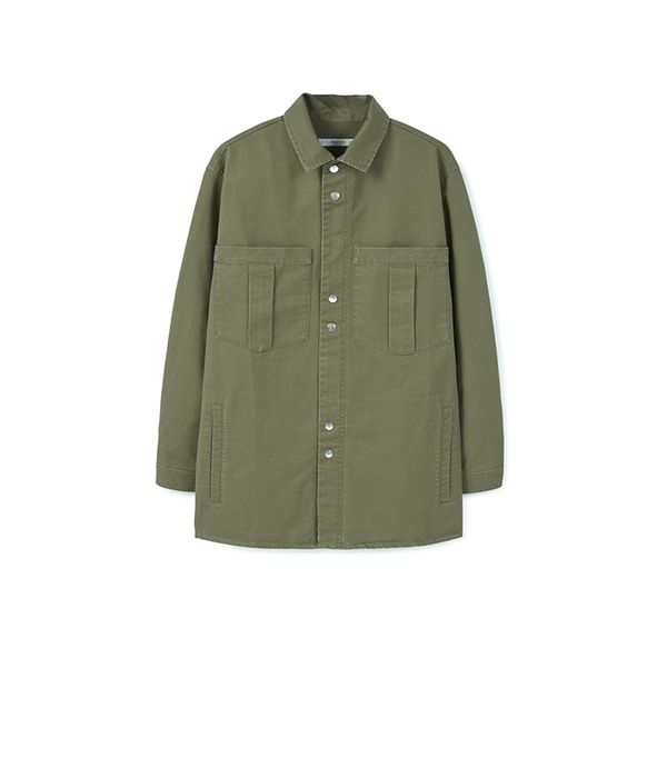 Mango Chest-Pocket Cotton Overshirt