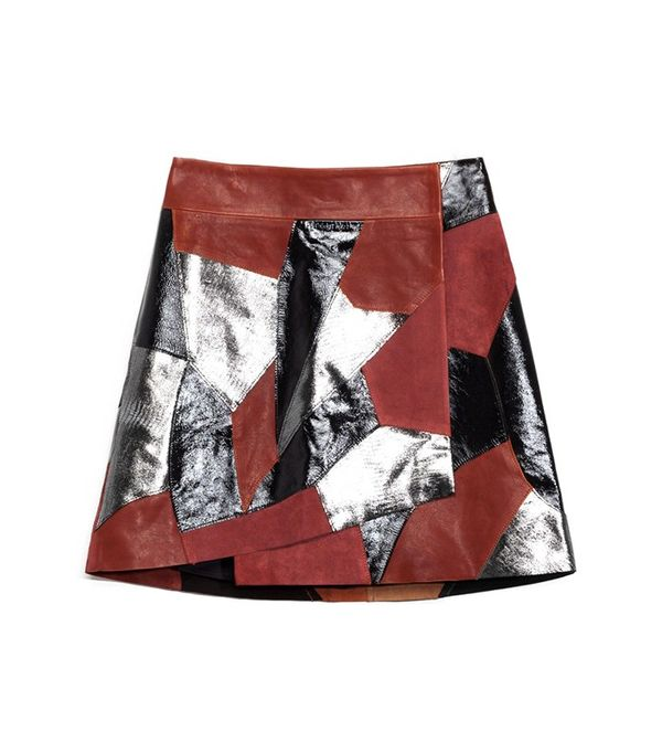 Rodarte & Other Stories Patchwork Leather Skirt