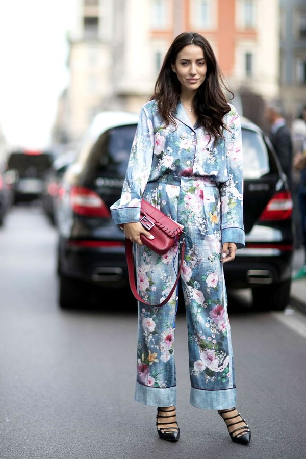 Pyjama dressing is made for spring. This season, try head-to-toe floral.