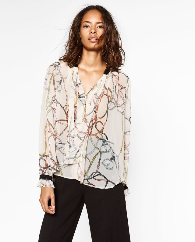 Zara Printed Blouse
