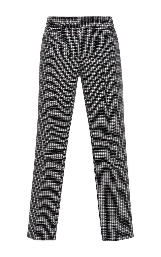 Tibi Gingham Straight Legged Pants