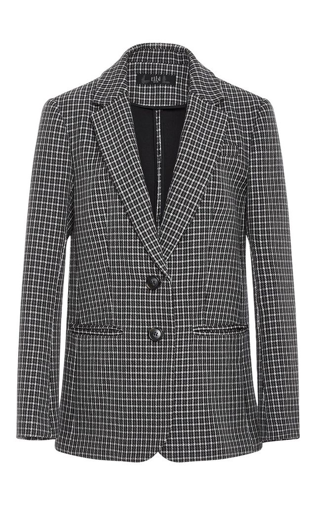 Tibi Boyfriend Gingham Suit Jacket