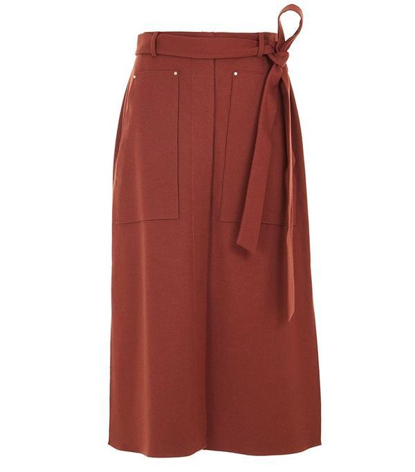 Tibi Owen Twill A-Line Skirt