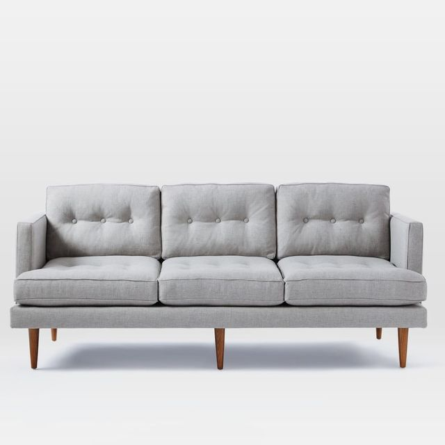 West Elm Peggy Mid-Century Sofa - Feather Grey