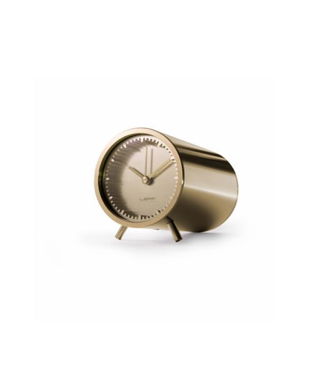 Leff Amsterdam Tube Clock Brass
