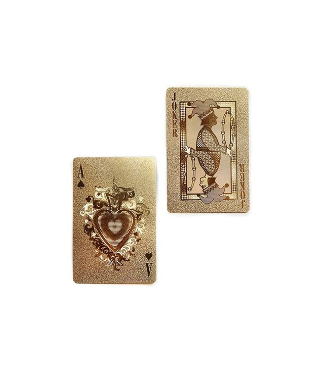 Neo-Utility Gold Playing Cards